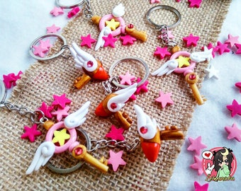 Keychain Keys Card captor Sakura, Polymer clay