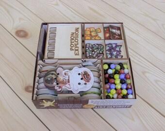 Potion explosion board game insert, organizer, storage solution