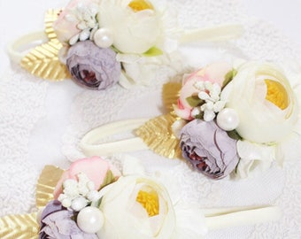 Lilac, pink and ivory cluster