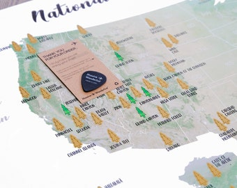 National park map etsy scratch off your national parks adventures golden scratch off surface large sciox Gallery