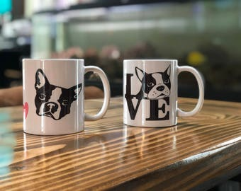 Boston Terrier 11oz mugs