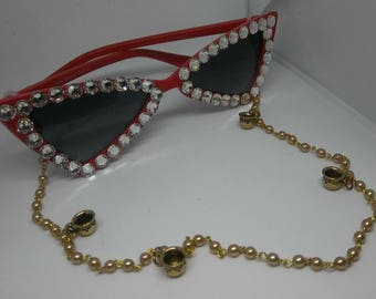 Red 2018 cateye sunglasses