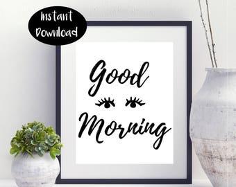 Good Morning ,Good Morning Sign Digital Download INSTANT DOWNLOAD