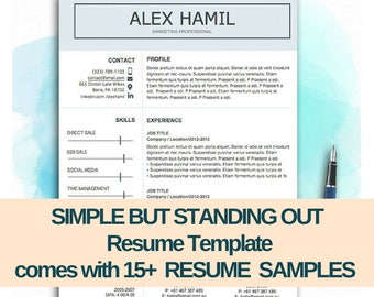 resume template resume design cv template simple doc word format resume - Resume Format Letter Size