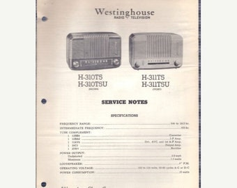 Tech-Lit Westinghouse Radio Service Manual - H-3310T5