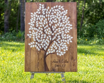 Guestbook Tree, Wedding Guestbook Tree, Personalized Wedding Guestbook, Wood Wedding Guestbook, Wedding Guestbook Alternative