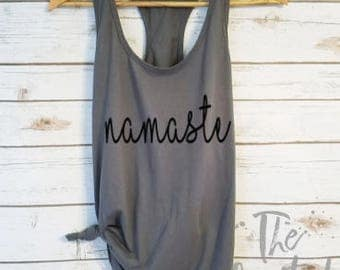 Namaste Tank/Workout Tank/Fitness Tank Tops/Gym Shirt/Crossfit Tank Tops/ Yoga Tank /Workout Shirt /Funny Workout Tank