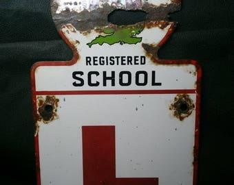 Motor Schools Association of Great Britain Porcelain Sign