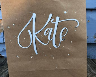 Hand Lettered/Painted Giftbags!