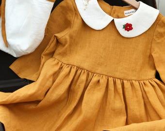 Dresses for girls, Linen sundress, linen girls dress, Little dress, dress for girl, cotton dress, linen dress, linen dress for girl