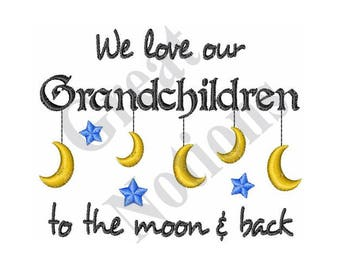 To The Moon And Back - Machine Embroidery Design