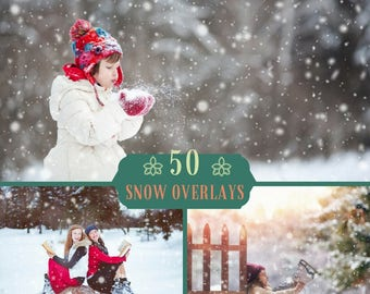 50 Snow Overlays, Blowing Snow, Photoshop Overlay, Winter Overlay, Christmas Overlays, Snow Texture, Blowing Snow Overlay, Digital Backdrop