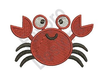 Red Crab - Machine Embroidery Design