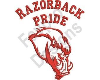 Razorback Pride - Machine Embroidery Design