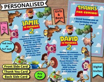 Toy Story Invitation, Toy Story Invite, Toy Story Birthday Invite, Toy Story Birthday Invitation, Toy Story Birthday Party, Toy Story Cards