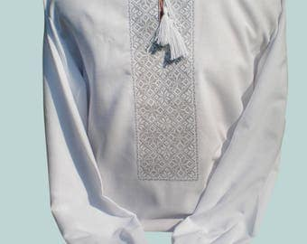 Vyshyvanka for men / Ukrainian shirt / linen shirt men / Made in Ukraine / Vyshivanka / Vishivanka / mens gift / ukranian