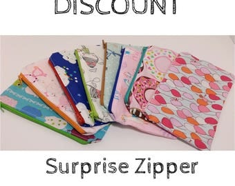 GREAT DEAL!  Surprise Zipper Pouch - makeup bag; pencil case; gift for her; cosmetic bag; carry all; gadget case; birthday; Christmas gift