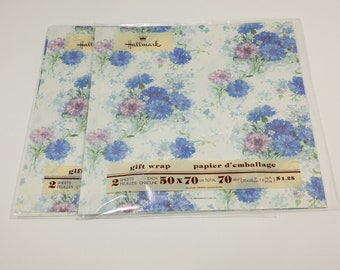 Vintage Floral Wrapping Paper in Original Packaging - gift wrap; children's; collectible; 1970's; 1980's; rare; OOAK