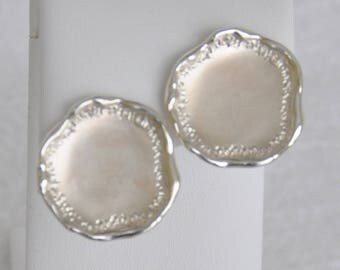 Sterling Silver Free Formed Circle Earrings