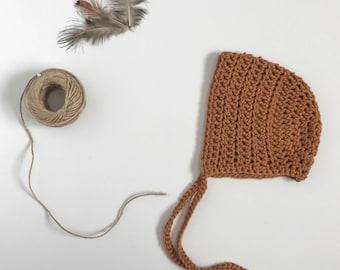 Classic crochet bonnet