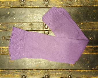 Vintage Leg Warmers, 1980's Purple Knit Leg Warmers