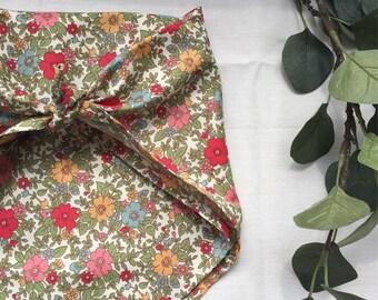 Girls kerchief floral bandana babushka headscarf wrap sunhat