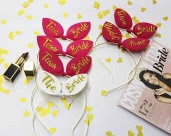 Bachelorette tiara, Bunny ears, Bridal Headband, Wedding tiara, Headbands, Bachelorette gifts, Bride gift, Hair accessory, Bridal Party,