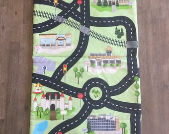 Local Landmark Playmat, City of London Playmat, Fold up Playmat, Cotton Road Map Mat