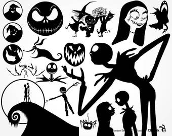 Nightmare Before Christmas svg, Nightmare svg, Nightmare clipart Jack files – svg, eps, png, dxf, pdf. Fabric, Shirt, Cut, Print, Mug, Decal