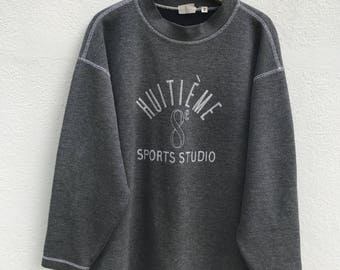 Japanese Brand Hiutieme Sport Studio Sweatshirt Huitieme Japan Fashion Designer Made in Japan