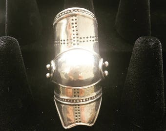 Large Silver Armor Ring