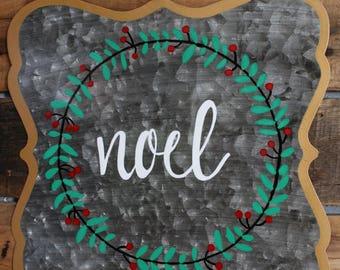 Tin Noel Christmas Sign