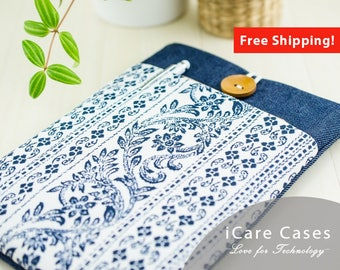MacBook Case 12 Inch Mac Laptop Sleeve 12 Inch MacBook Bag MacBook Folio Case MacBook Pro Sleeve 13 2016 MacBook Pro A1707 Case Flower Jeans