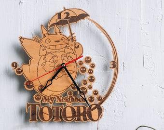 Totoro art Clock studio ghibli poster wall clock totoro poster totoro birthdaygift totoro nursery decor totoro cosplay