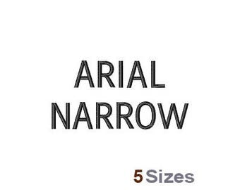 Arial Narrow Font - Machine Embroidery Font