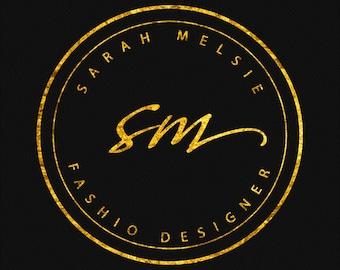 Logo Design, Logo Template, Photography Logo, Business Logo, Gold Logo, Premade Logo, Custom Logo Design, Rose Gold Logo, Feminine Logo