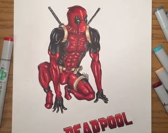 Deadpool Marker Art Print