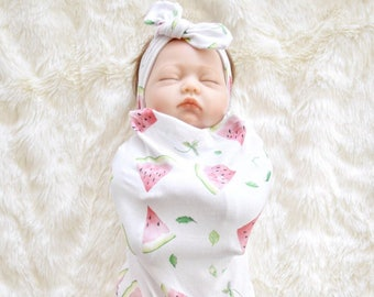 Watermelon Swaddle, Baby Cocoon, Swaddle Sack, Baby girl swaddle sack, cocoon, baby swaddle, newborn sleeping sack, swaddle