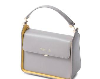 Small shoulder bag leather bag purse, designer shoulder bags, messenger bag, mini shoulder bag, small  bag ladies messenger bag two-tone bag