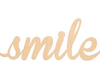 Cursive smile | Etsy