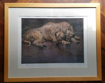 Deerhounds - Framed 1994 Limited Edition Signed Print (302/850) by Mick Cawston