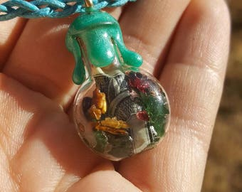 Prosperity Necklace Charm with REAL MONEY!