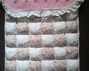 Handmade baby quilt to fit pram, crib or pushchair