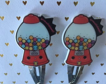Gumball Snsp Clips, Gumball Machine Snap Clips, Candy Snap Clips, Candy Hair Clips