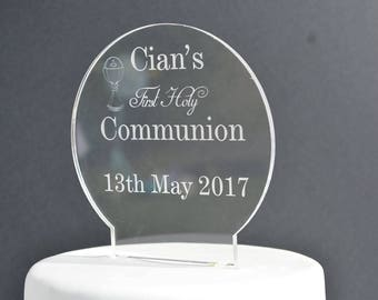 Personalised First Holy Communion Cake Topper