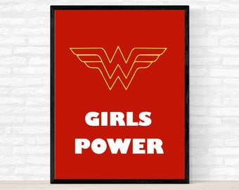 Wonder Woman Wall Art wonder woman poster | etsy
