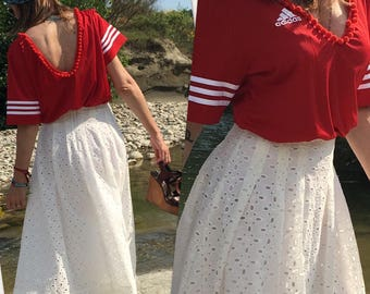 Broderie anglaise skirt cotton