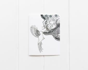 All occasion cards/Bird Notecard Set/ Bird Postcard/Bird Greeting Card/ Bird Thank You Card/ Encouraging Card/ Blank Artist Postcard/CC-71