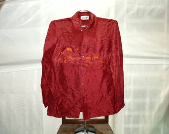Vintage Hai Sporting Gear button downs long sleeve embroidery