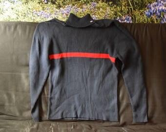 Ralph Lauren Red Stripe Turtleneck Sweater